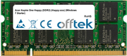 Aspire One Happy (DDR2) (Happy-xxx) (Windows 7 Starter) 1GB Modulo - 200 Pin 1.8v DDR2 PC2-5300 SoDimm
