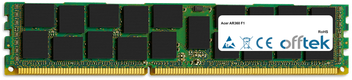 AR360 F1 16GB Modulo - 240 Pin 1.5v DDR3 PC3-8500 ECC Registered Dimm (Quad Rank)