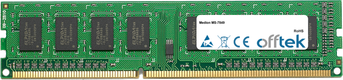 MS-7849 4GB Modulo - 240 Pin 1.5v DDR3 PC3-12800 Non-ECC Dimm