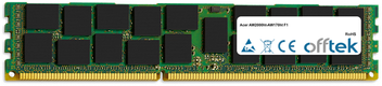 AW2000ht-AW170ht F1 8GB Modulo - 240 Pin 1.5v DDR3 PC3-10664 ECC Registered Dimm (Dual Rank)