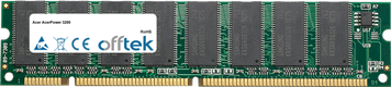AcerPower 3200 128MB Modulo - 168 Pin 3.3v PC100 SDRAM Dimm