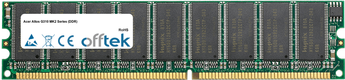 Altos G310 MK2 Serie (DDR) 512MB Modulo - 184 Pin 2.6v DDR400 ECC Dimm (Dual Rank)