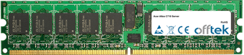 Altos C710 Server 4GB Kit (2x2GB Moduli) - 240 Pin 1.8v DDR2 PC2-3200 ECC Registered Dimm (Single Rank)