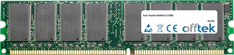 Aspire ASA80-U-C3650 1GB Modulo - 184 Pin 2.6v DDR400 Non-ECC Dimm