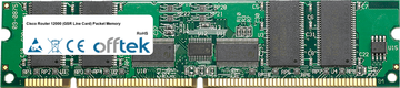 Router 12000 (GSR Line Scheda) Packet Memory 512MB Kit (4x128MB Moduli) - 168 Pin 3.3v PC133 ECC Registered SDRAM Dimm