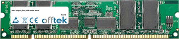 ProLiant 1600R 6/450 256MB Modulo - 168 Pin 3.3v PC100 ECC Registered SDRAM Dimm