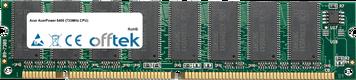 AcerPower 8400 (733MHz CPU) 128MB Modulo - 168 Pin 3.3v PC100 SDRAM Dimm
