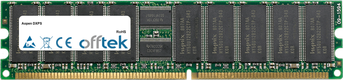 DXPS 1GB Modulo - 184 Pin 2.5v DDR266 ECC Registered Dimm (Single Rank)