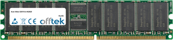Altos G301S-U-N2820 1GB Modulo - 184 Pin 2.5v DDR266 ECC Registered Dimm (Single Rank)