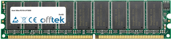 Altos R310-U-P3000 1GB Modulo - 184 Pin 2.6v DDR400 ECC Dimm (Dual Rank)