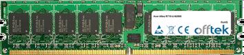 Altos R710-U-N2800 4GB Modulo - 240 Pin 1.8v DDR2 PC2-4200 ECC Registered Dimm (Dual Rank)
