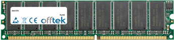 AT8 1GB Modulo - 184 Pin 2.6v DDR400 ECC Dimm (Dual Rank)