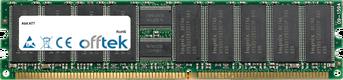 AT7 512MB Modulo - 184 Pin 2.5v DDR333 ECC Registered Dimm (Single Rank)