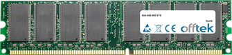 AS8-3RD EYE 1GB Modulo - 184 Pin 2.6v DDR400 Non-ECC Dimm