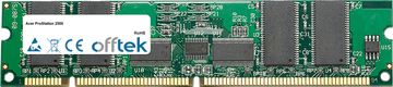 ProStation 2500 256MB Modulo - 168 Pin 3.3v PC100 ECC Registered SDRAM Dimm