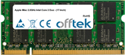 IMac 2.0GHz Intel Core 2 Duo - (17-Inch) 2GB Modulo - 200 Pin 1.8v DDR2 PC2-5300 SoDimm