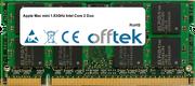Mac Mini 1.83GHz Intel Core 2 Duo 1GB Modulo - 200 Pin 1.8v DDR2 PC2-5300 SoDimm