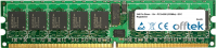 240 Pin Dimm - 1.8v - PC2-4200 (533Mhz) - ECC Registrato 512MB Modulo
