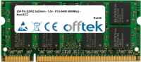200 Pin DDR2 SoDimm - 1.8v - PC2-6400 (800Mhz) - Non-ECC 2GB Modulo