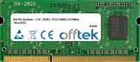 204 Pin Sodimm - 1.5V - DDR3 - PC3-10600 (1333Mhz) - Non-ECC 1GB Modulo