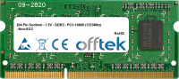 204 Pin Sodimm - 1.5V - DDR3 - PC3-10600 (1333Mhz) - Non-ECC 4GB Modulo