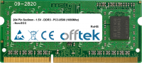 204 Pin Sodimm - 1.5V - DDR3 - PC3-8500 (1066Mhz) - Non-ECC 4GB Modulo