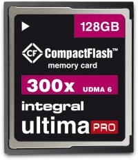 Integral Ultima-Pro Compact Flash 300X 128GB Scheda