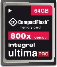Integral Ultima-Pro Compact Flash 800X 64GB Scheda