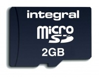 Integral Transflash/Micro SD Scheda (Con Adattatore) 2GB Scheda