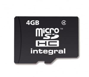 Integral Micro SDHC (Senza Adattatore) 4GB Scheda (Class 4)