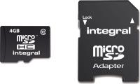 Integral Micro SDHC (Con Adattatore) (Class 10 - 20x) 4GB Scheda (Class 10)
