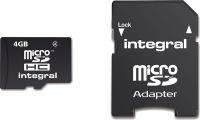 Integral Micro SDHC (Con Adattatore) 4GB Scheda (Class 4)