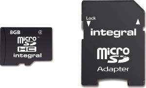 Integral Micro SDHC (Con Adattatore) 8GB Scheda (Class 4)