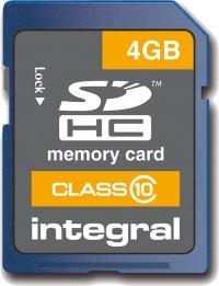 Integral SDHC Scheda 4GB Scheda (Class 10)