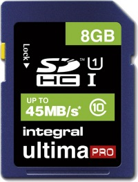 Integral SDHC 8GB Scheda (Class 10 - 45MB/s)