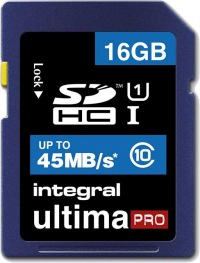 Integral SDHC 16GB Scheda (Class10 - 45MB/s)