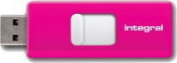 Integral Slide USB Drive 16GB (Pink)