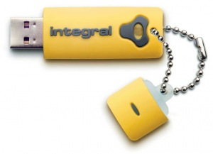 Integral Splash Drive 8GB Drive (Yellow)