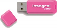 Integral Neon USB Drive 32GB Drive (Pink)