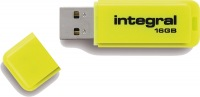 Integral Neon USB Drive 16GB Drive (Yellow)