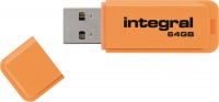 Integral Neon USB Drive 64GB Drive (Orange)