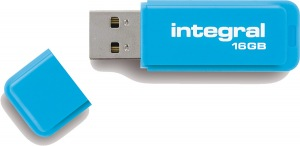 Integral Neon USB Drive 16GB Drive (Blue)