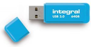 Integral Neon USB 3.0 Flash Drive 64GB