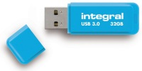 Integral Neon USB 3.0 Flash Drive 32GB Drive (Blue)