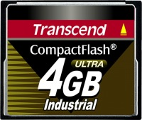 Transcend Industrial Ultra Compact Flash 4GB Scheda (100x)