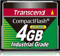 Transcend Industrial Ultra Compact Flash 4GB Scheda (200x)