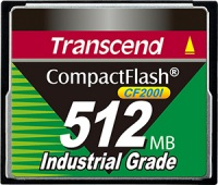 Transcend Industrial Ultra Compact Flash 512MB Scheda (200x)