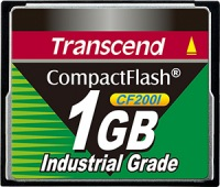 Transcend Industrial Ultra Compact Flash 1GB Scheda (200x)